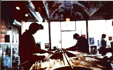Record shopping in Chicago