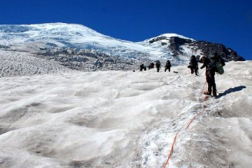 climbing mount rainier photo