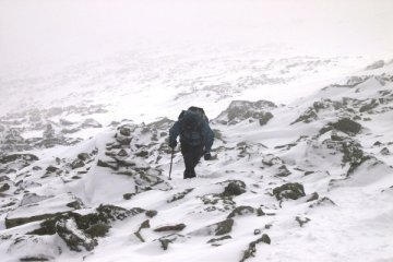 climbing mount washington in winter photo