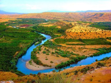 Greater Zab River near Erbil, Iraqi Kurdistan