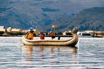 Uros Island, Lake Titicaca, Peru