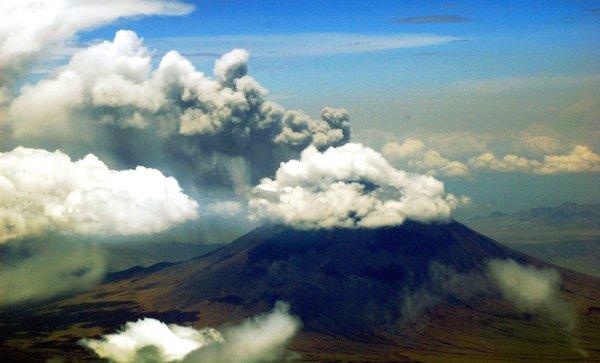 Volcano erupting in Tanzania