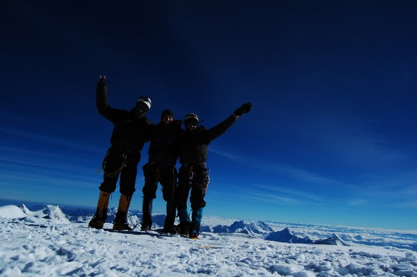 At the summit of Huascaran, Peru