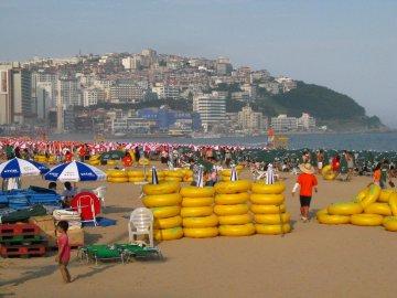 Busy Haeundae Beach, Busan