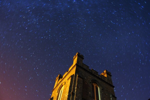 Stars above a Scottish church