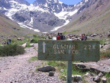 Glacier hike, Cajon del Maipo, Chile
