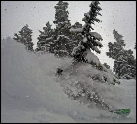 Mt. Baker snow spray