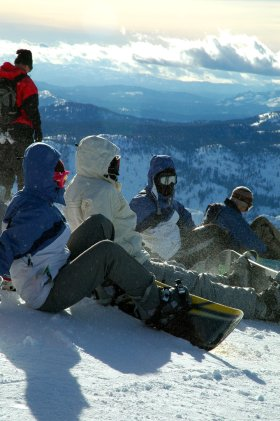 Snowboarders, Mammoth Mountain