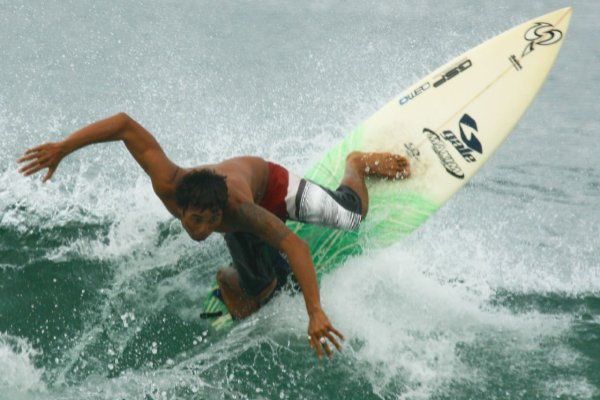 Balinese surfing instructor