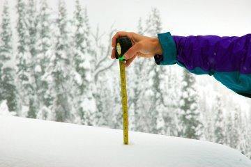 Measuring the snow