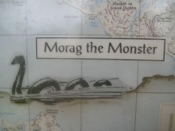 Map with Loch Morar monster