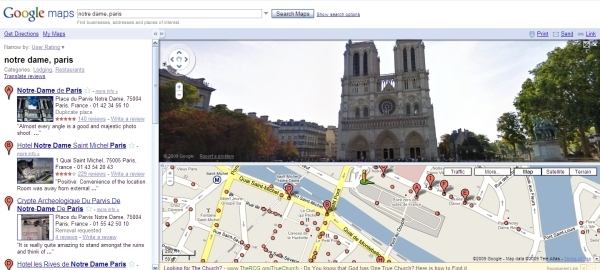 Screenshot of Google Street View