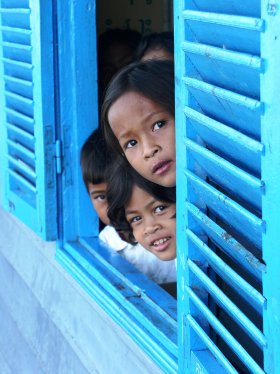 Kids in Siem Reap, Cambodia