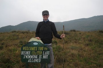 Mt. Bisoke crater lake, Rwanda