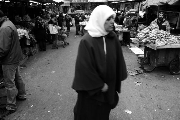 Woman in Ramallah market