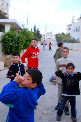 Happy kids in Beit Sahour