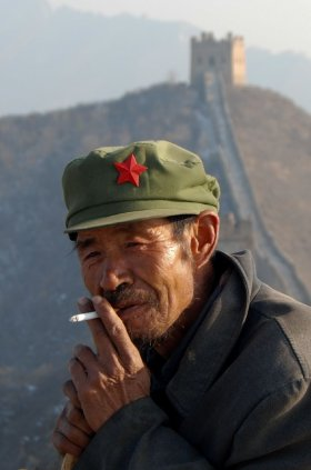 Smoking on the Great Wall
