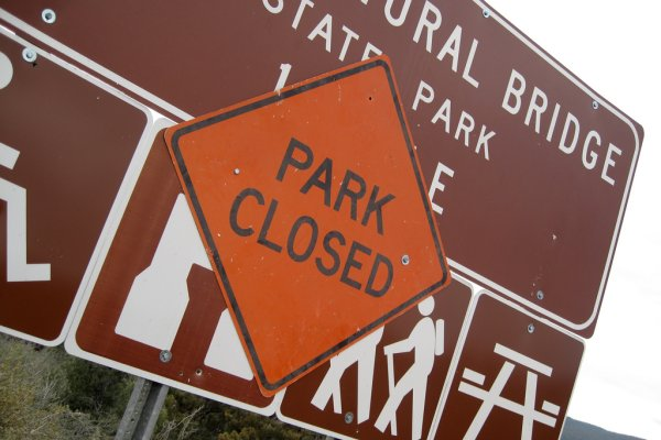Tonto Natural Bridge State Park, closed