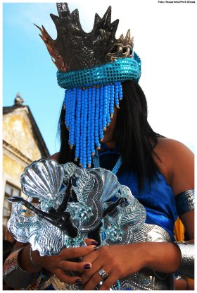 Desfile de Afoxé nas previas do carnaval 2009