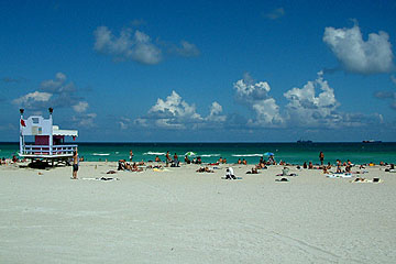 Beach shot in South Beach, Miami
