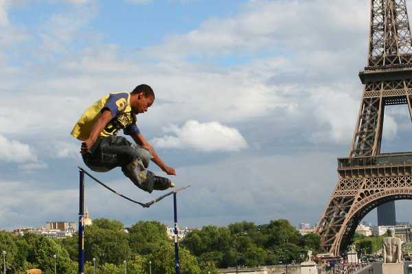Rollerblades and the Eiffel Tower
