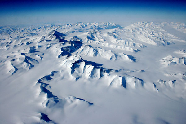 Antarctica from the air