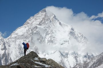 K2 in the background