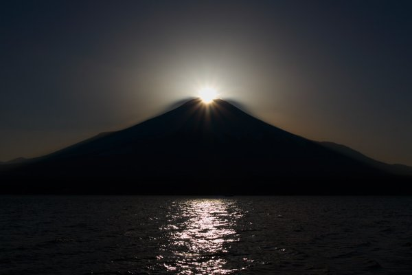 Sunrise over Fuji