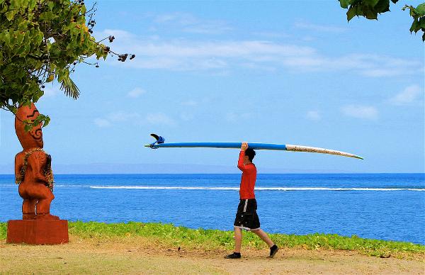 Surf lesson, Maui