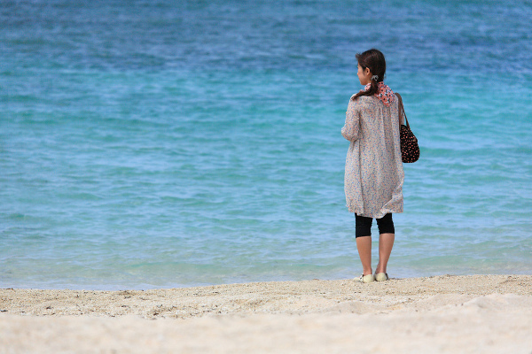 At the beach, Okinawa