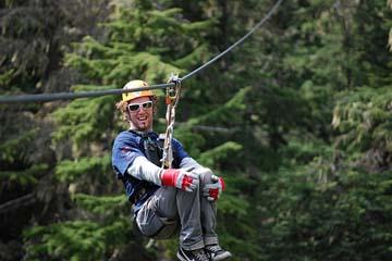Zip-trekking at Whistler, Canada