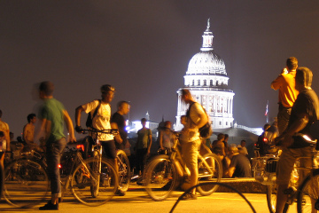 Austin night riding