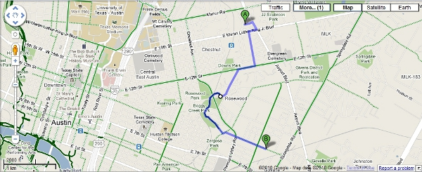 Google Maps Biking screenshot