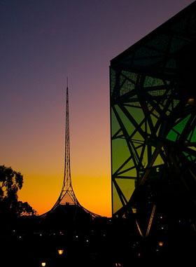 Melbourne silhouette