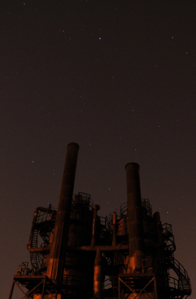 Gas Works at night