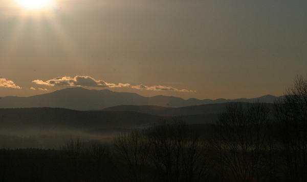 Sunrise over the White Mountains