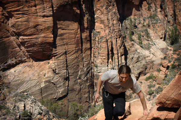 Climbing in Zion