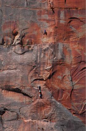 Zion wall climbing