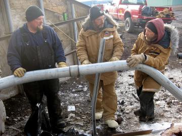 Antarctica workers