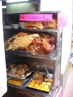Pig's head, Quito