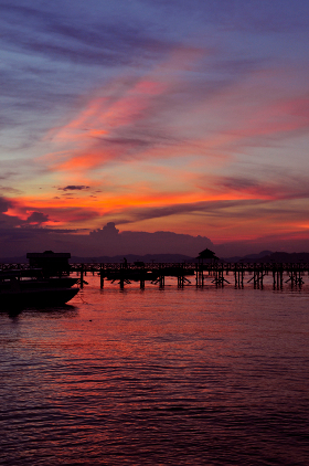 Sunset over Mabul