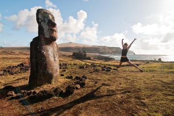 Easter Island jump