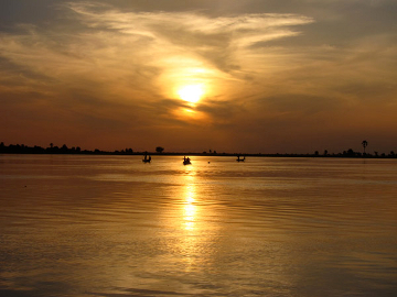 Sunset over the Niger River
