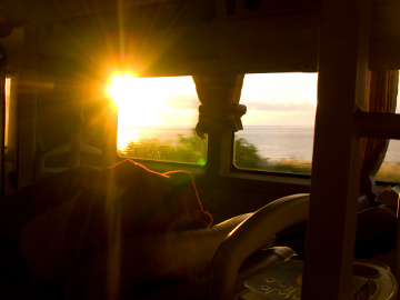 Bus sunrise