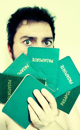 Hand of passports