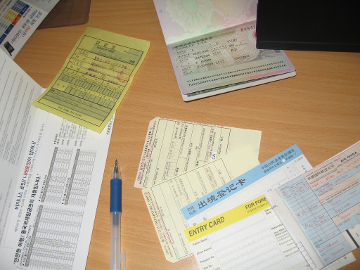 Travel paperwork for China