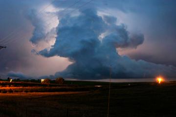 Big clouds at dusk