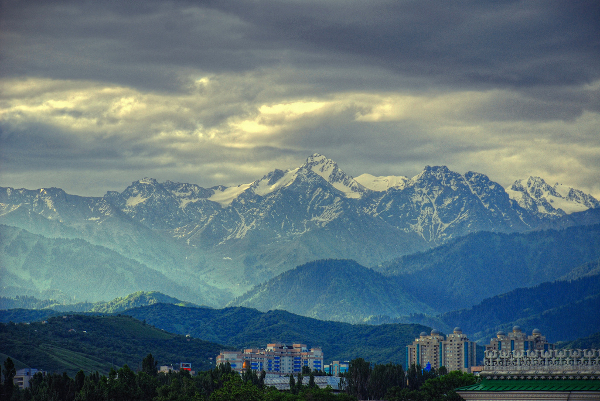 Early morning in Almaty