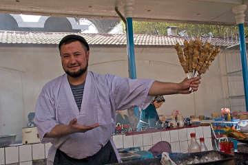 Kebab vendor, Tashkent