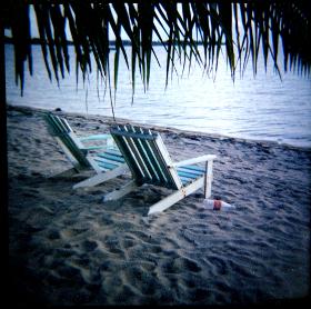 Beach chairs, Placencia